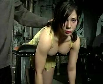 Busty babe gets spanked during a BDSM game