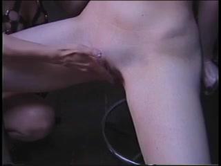 Kinky lesbian milfs in a BDSM dildo play