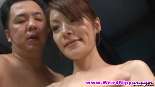 Real life asian doll drooling on dick