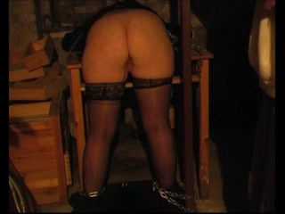 Old fatso enjoys flogging during a BDSM game