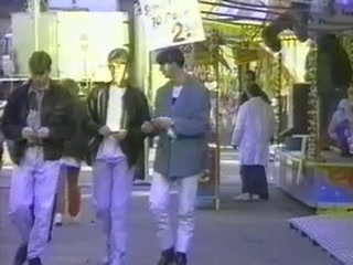 Three toned guys fucking in gay vintage video
