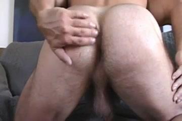 Huge hairy gay bear wanks off his wiener