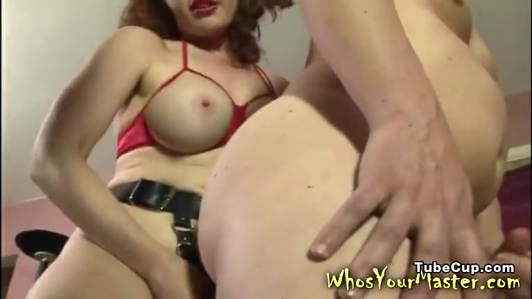 Strapon Fucked By His Busty Femdom Wife