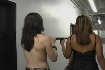 Chubby babes in kinky lesbian BDSM game