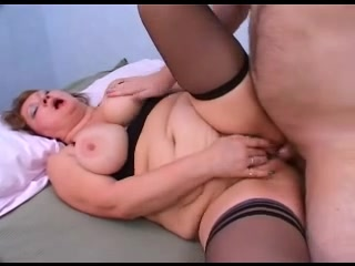Old and horny granny fucked in her cunt in doggy style