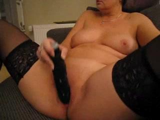 Solo horny granny masturbating and rubbing her clit