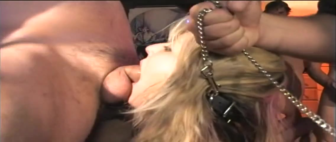 Hot sluts nailed together in a BDSM group sex party