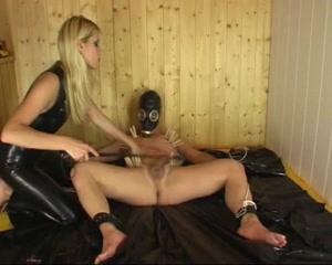 Stunning Latex Blonde Electric Sounding & Anal BDSM