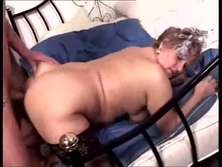Plump German granny screwed in the butt